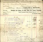 1883 Rochester New York HAMILTON & MATHEWS Company Bill