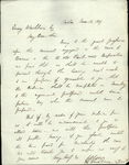 1839 Letter Emery Wasburn Boston Massachusetts Attorney